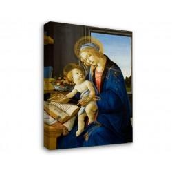 Quadro Botticelli La Madonna del Libro - Madonna con Bambino di Sandro Botticelli - Stampa su Tela Canvas con o Senza Telaio
