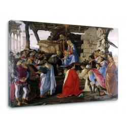 Quadro L'Adorazione dei Magi di Sandro Botticelli - Adoration Magi - Botticelli Stampa su Tela Canvas con o Senza Telaio