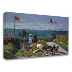 Quadro Claude Monet - Terrasse à Sainte-Adresse - Terrazza di Monet - Stampa su Tela Canvas con o Senza Telaio