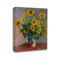 Quadro Monet - Bouquet des soleils - Bouquet di Fiori - Claude Monet - Stampa su Tela Canvas con o Senza Telaio