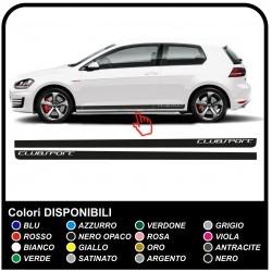 VW GOLF V-VII GTI Performance des Bandes Latérales autocollant Set 3 & 5 portes, golf 5, 6 et 7 de golf de volkswagen