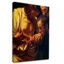 Painting by Caravaggio - the Incredulity of Saint Thomas Painting print on canvas with or without frame