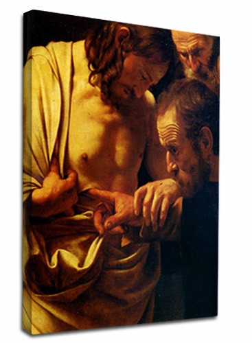 Doubting Thomas by CaravaggioFramed canvasWall art paint painting poster