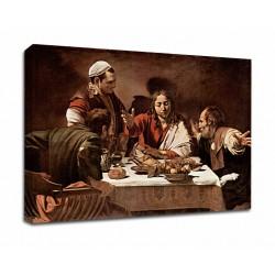 La peinture du Caravage - le Souper à Emmaüs - Photo impression sur toile avec ou sans cadre