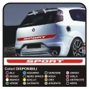 COMPLETE KIT STICKER REAR TRUNK SPORT with a SUPER SPORT Sticker rear trunk adhesive strip