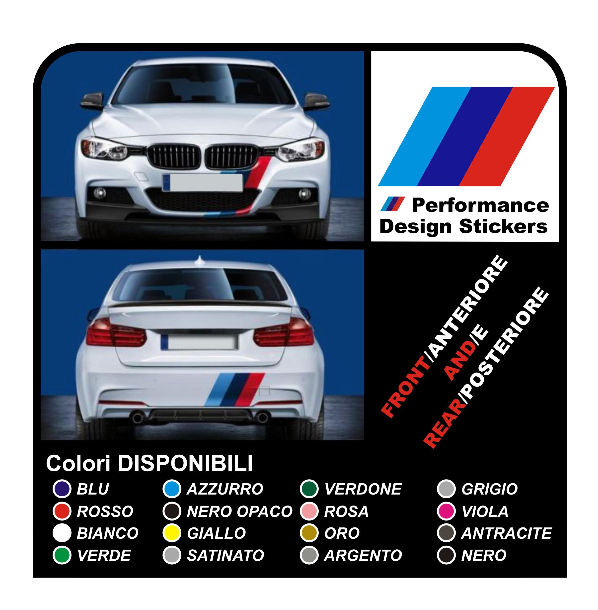 Stickers Band Bumper Front And Rear For Bmw All Models E36 E46 E60 E90 M3 M5 F01 F10