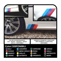 stickers band and side skirts for the bmw left and right side - all models