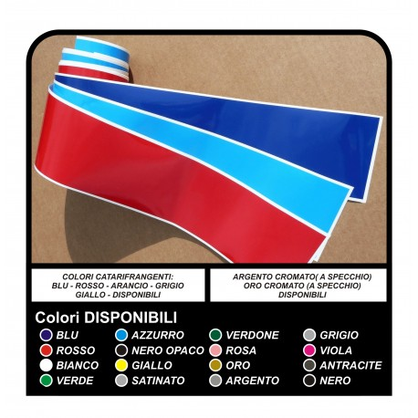stickers for the bonnet, roof and side bumper for bmw M Sport - all models