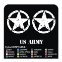 3 Decals STAR Jeep CJ CJ3 CJ5 CJ7 CJ8, US ARMY 50x50 cm star military 4X4