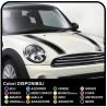 Aufkleber für mini cooper klebestreifen motorhaube mini Bonnet Stripes - bänder, selbstklebende motorhaube einfarbige kanten
