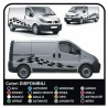 STICKERS for HOOD AND SIDE FOR FORD TRANSIT Custom SWB M-SPORT Van CHESSBOARD vivaro ducato iveco daily