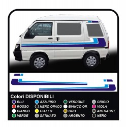 stickers for Piaggio Porter graphics vinyl stickers decals stripes Set VAN CARAVAN Motorhome