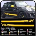 adhesive side MINI cooper graphics CAR checkered stripes MINI Checker graphics COOPER S ONE JCW 1.4 1.6