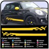 adhesive side MINI cooper graphics CAR checkered stripes MINI Checker graphics COOPER S ONE JCW 1.4 1.6