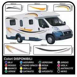 Autocollants LE kit complet de graphiques de vinyle autocollants décalques rayures camping-car, CARAVANE - graphiques 04 (var)