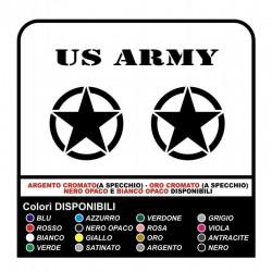 2 Stickers ÉTOILES de l'ARMÉE américaine RENEGADE-25x25 cm-star militaire 4X4