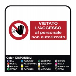 Adhesive Prohibited access to unauthorized personnel - Adhesive customizable