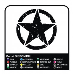Sticker STAR Jeep CJ CJ3 CJ5 CJ7 CJ8, US ARMY cm 40x40 star militaire 4X4
