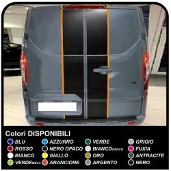 Adhesivos de TRÁNSITO de M-SPORT dos de tono sólo para la parte trasera Van gráficos van pegatinas calcomanías de rayas ford