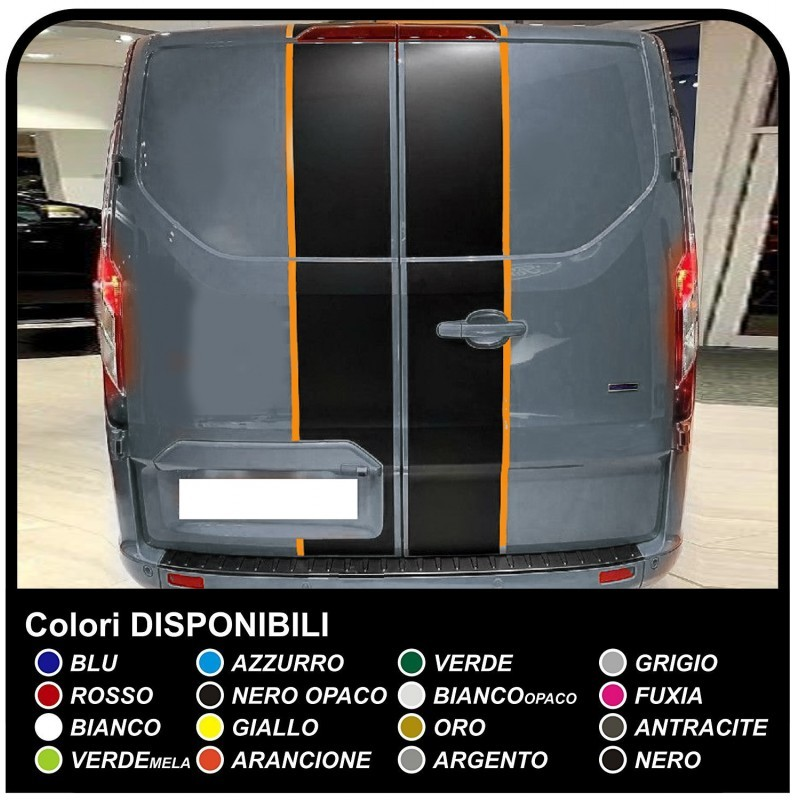 Adhesives Transit M Sport Two Tone Only Rear Van Graphics Van Stickers Decals Stripes Ford Transit Custom Turneo