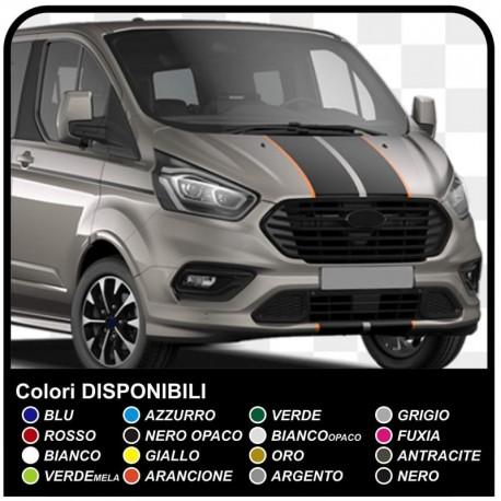 Aufkleber TRANSIT M-SPORT bicolor nur für vorne Van grafiken, van aufkleber decals streifen ford transit custom turneo