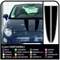 Stickers for FIAT 500 KIT strips bonnet stripes stickers for bonnet fiat 500, mini and other cars