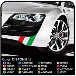 Adhésifs universels pour voiture KIT de bandes du drapeau italien pour le capot, le toit et le coffre stripes drapeau tricolore
