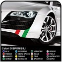 Universal adhesives for car KIT bands of the Italian flag for the hood roof and trunk stripes tricolor flag stickers Italian