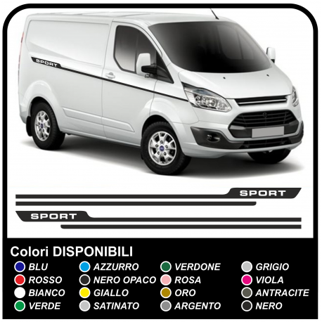 Adhesives TRANSIT M-SPORT Side Van graphics van stickers decals stripes ford transit custom turneo