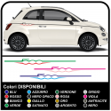 STICKERS FOR FIAT 500 STRIPES TUNING FOR SIDE 500 STICKERS DECAL AUFLKEBER TWO-TONE AUTOCOLLANT