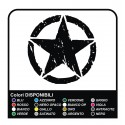 Sticker STAR Jeep CJ CJ3 CJ5 CJ7 CJ8, US ARMY, 30 cm, star military 4X4