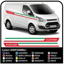 Aufkleber TRANSIT M-SPORT-Seitliche Tricolore Van grafiken, van aufkleber decals streifen ford transit custom turneo Italien
