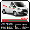 Adhésifs de TRANSIT M-SPORT Côté Tricolore, Van graphiques, van autocollants décalques bandes ford transit custom turneo Italie