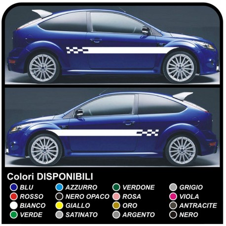 FORD FOCUS ST 5DR full kit decals side Stickers for focus Stripes FOCUS decals car side straps for ford focus