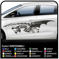 Adhesive Side Self adhesive Strips Car Dragon Stickers Dragon Tribal cm 170
