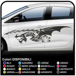 Côté adhésif Auto-adhésifs, Bandes de Voiture Dragon Stickers Dragon Tribal cm 170