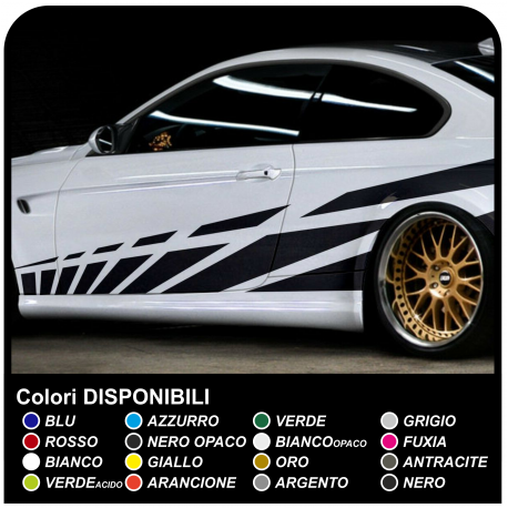 Adhesive Side Car Stripes stickers Racing Stickers Tuning Side Bands from Stroke is 270 cm