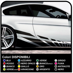 Aufkleber-satz für Auto klebestreifen Racing Sticker Tuning Seitlichen Bändern-Rennen: 210 cm