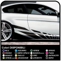 Adhesive Side Car Stripes stickers Racing Stickers Tuning Side Bands Running cm 210