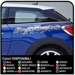 Stickers skull car 100 cm adhesive side car Tuning tribal