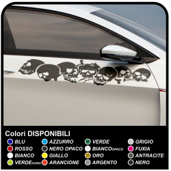 Skulls car stickers cm 100 stickers on each side to car Tuning tribal