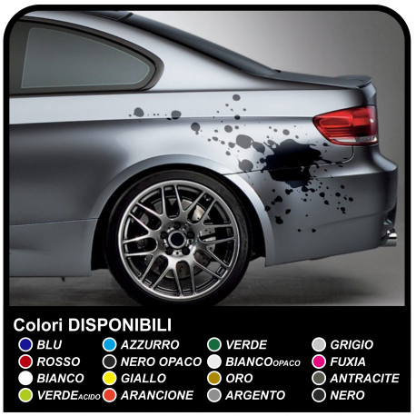 Adhesive side to drive the stain, Splash, stains, stickers for cars tribal tuning