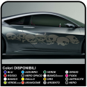 Stickers SKULL cm 210 Skull Sticker side bumper and sides, Tuning Tattoo