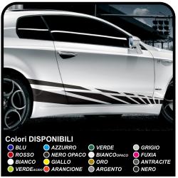 tiras adhesivas 195 cm lado Adhesivo de Carreras de la Decoración de la etiqueta Engomada del coche Tuning race