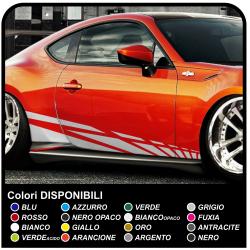 Des Stickers pour les côtés de la voiture 195cm côté collant de Course de Sport de Décoration Autocollant pour voiture Tuning