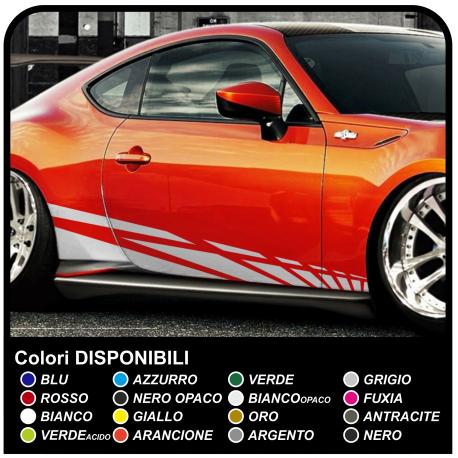 Der aufkleber für die fahrzeugseite auto 195cm seitlichen Aufkleber Sport Racing-Dekoration-Aufkleber für auto-Tuning-lauf