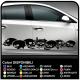 SKULLS stickers aggressive front side car, skull sticker cm 185 stripes car Tribal