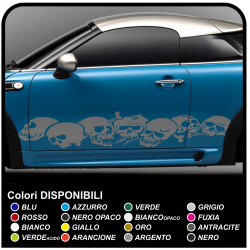 Adhesive strips skulls car cm 185 adhesive side drive skull skull sticker cm 185 for the side car Tribal