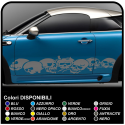 Adhesive strips skulls car cm 185 adhesive side drive skull skull sticker cm 185 for the side car Tribal