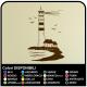 Autocollant PHARE Maritime cm 58x90 Stickers muraux, mur, porte, cuisine, salle de bains, WC, salon
